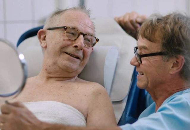 Kalle long term care nurse with patient