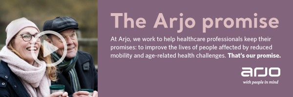 The Arjo Promise web banner