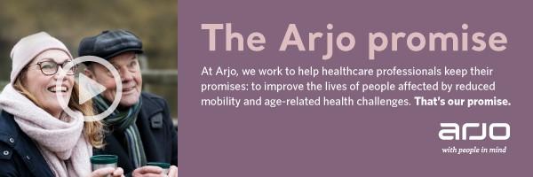 The Arjo Promise web banner